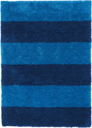 Calvin Klein Chicago Shag Ck722 Blue Area Rug