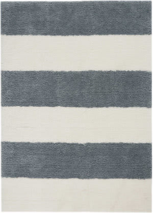 Calvin Klein Chicago Shag Ck722 White - Grey Area Rug