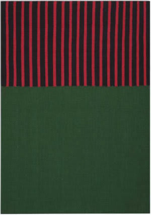 Calvin Klein Nashville Ck750 Hunter Green - Magenta - Black Area Rug
