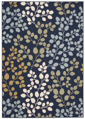 Nourison Carribean Crb01 Navy Area Rug