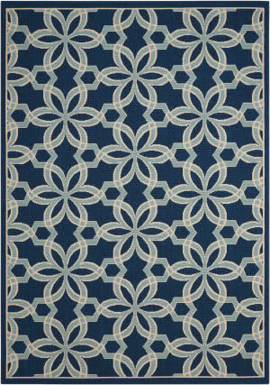 Nourison Caribbean Crb05 Navy Area Rug