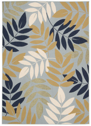 Nourison Carribean Crb06 Blue Area Rug