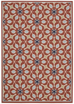 Nourison Carribean Crb07 Rust Area Rug