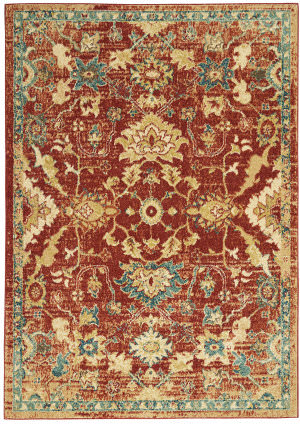 Nourison Traditional Antique Trq02 Red Area Rug