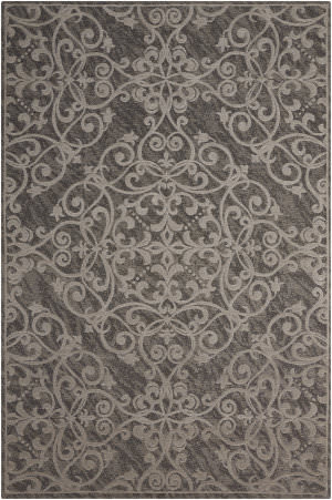 Nourison Damask Das01 Grey Area Rug