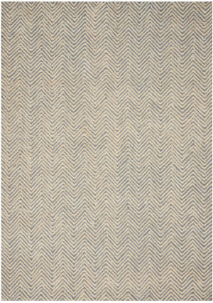 Nourison Deco Mod Dec03 Light Blue - Ivory Area Rug
