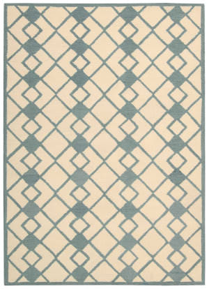 Nourison Decor Der03 Ivory Blue Area Rug