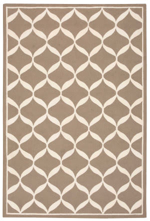Nourison Decor Der06 Taupe White Area Rug