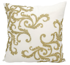 Nourison Luminescence Pillow E0943 Gold