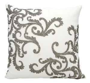 Nourison Luminescence Pillow E0943 Pewter