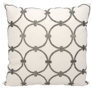 Nourison Luminescence Pillow E0953 Pewter