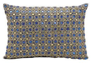 Kathy Ireland Pillows E4152 Sapphire