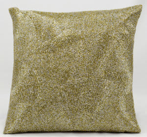 Nourison Pillows Luminescence E5023 Silver Gold
