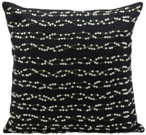Nourison Pillows Luminescence E5275 Black - Silver