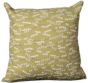 Nourison Mina Victory Pillows Felt E5276 Green