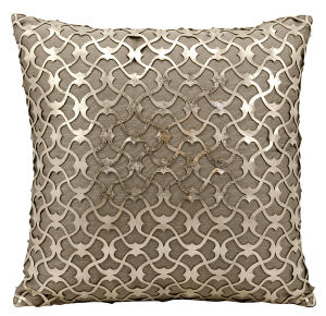 Nourison Pillows Laser Cut Es016 Gold Beige