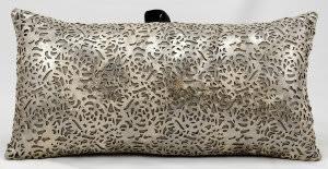 Nourison Pillows Laser Cut Es021 Platinum Beige