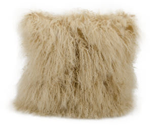 Nourison Pillows Fur F7101 Beige