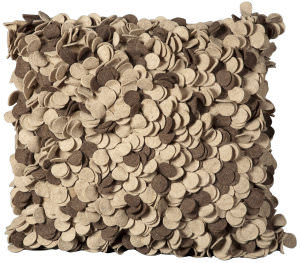 Nourison Mina Victory Pillows Felt Fe107 Beige - Brown