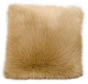 Nourison Fur Pillow Fl101 Beige