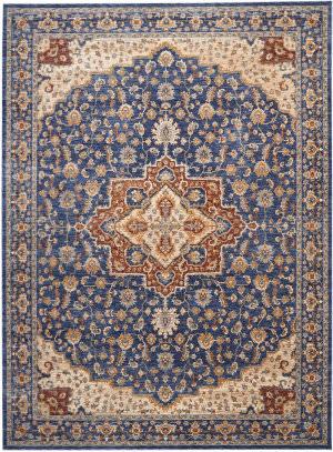 Nourison Reseda Res01 Blue Area Rug