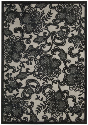 Nourison Graphic Illusions GIL-02 Pewter Area Rug