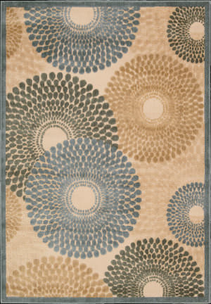 Nourison Graphic Illusions GIL-04 Teal Area Rug