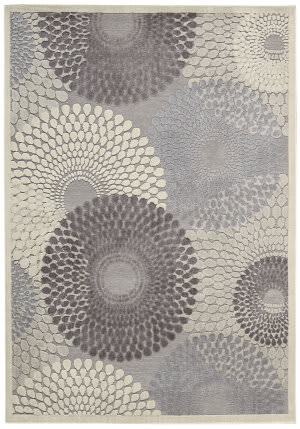 Nourison Graphic Illusions GIL-04 Grey Area Rug