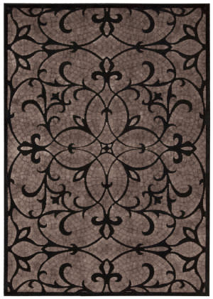 Nourison Graphic Illusions Gil04 Black Area Rug