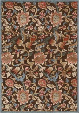 Nourison Graphic Illusions GIL-06 Brown Area Rug