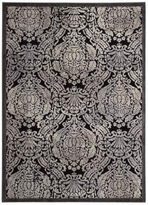 Nourison Graphic Illusions Gil09 Black Area Rug