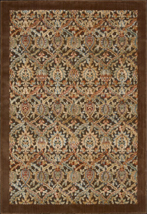 Nourison Graphic Illusions GIL-15 Chocolate Area Rug