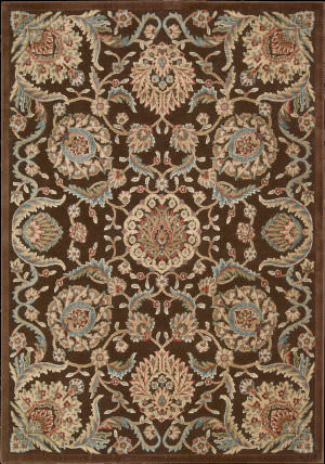 Nourison Graphic Illusions GIL-17 Chocolate Area Rug