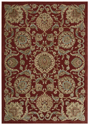 Nourison Graphic Illusions Gil17 Red Area Rug