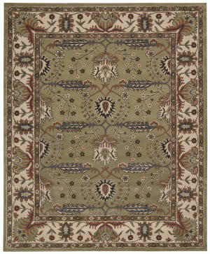 Nourison Grand Mahal Gr21 Green Area Rug
