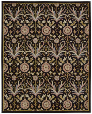 Nourison Grand Mahal Gr25 Black Area Rug