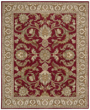 Nourison Grand Mahal Gr45 Red Area Rug