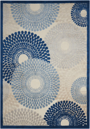 Nourison Graphic Illusions Gil04 Ivory-Blue Area Rug