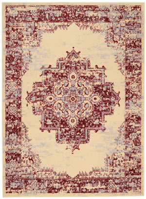 Nourison Grafix Grf14 Cream Red Area Rug