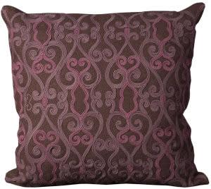 Nourison Mina Victory Pillows Felt H1753 Brown