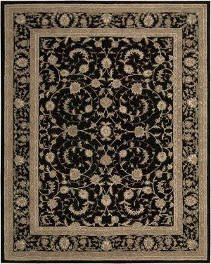 Nourison Heritage Hall He29 Black Area Rug