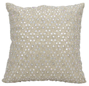 Nourison Couture Luster Pillow Hr103 Champagne