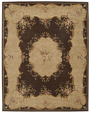 Nourison Heritage Savonnerie HS-04 Brown Area Rug