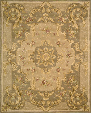Nourison Heritage Savonnerie HS-05 Taupe Area Rug
