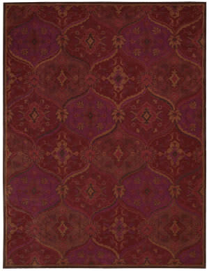 Nourison India House Ih88 Red Area Rug