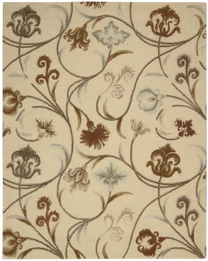 Nourison In Bloom Inb09 Beige Area Rug