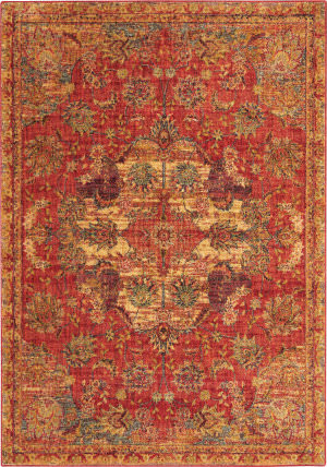 Nourison Vintage Tradition Vgt01 Red Area Rug