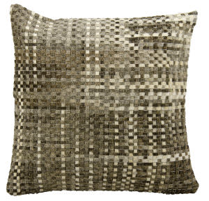 Nourison Pillows Natural Leather Hide Jh263 Grey