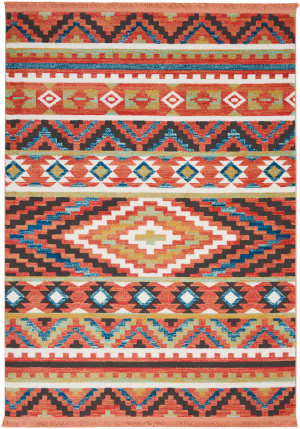 Nourison Tribal Decor Trl04 Orange Area Rug