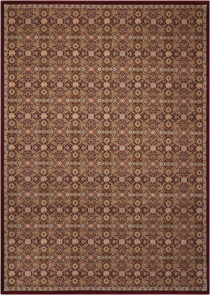 Kathy Ireland Ki11 Antiquities Ant08 Burgundy Area Rug